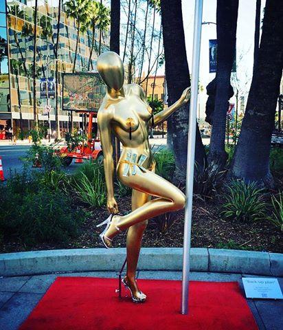 by L.A artist Plastic Jesus 2016 Oscar satire